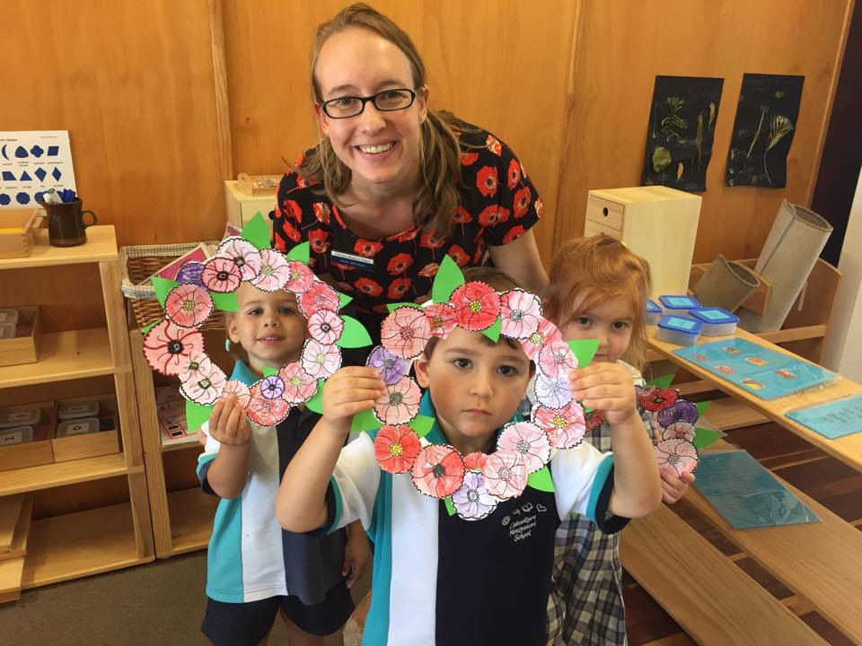 Anzac day 2017 wreath making