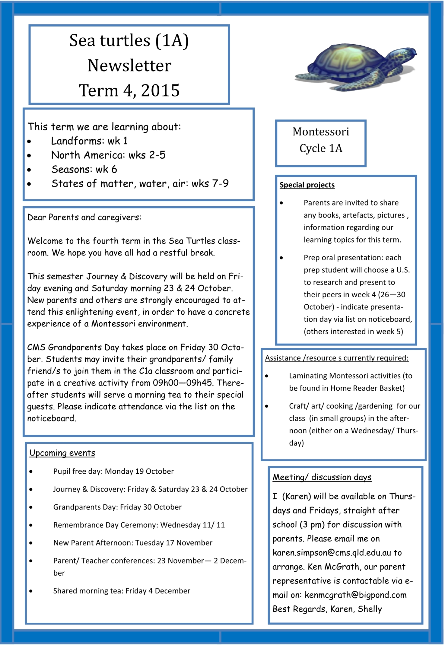 Newsletter Term 4